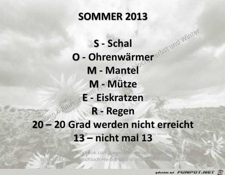 Sommer 2013