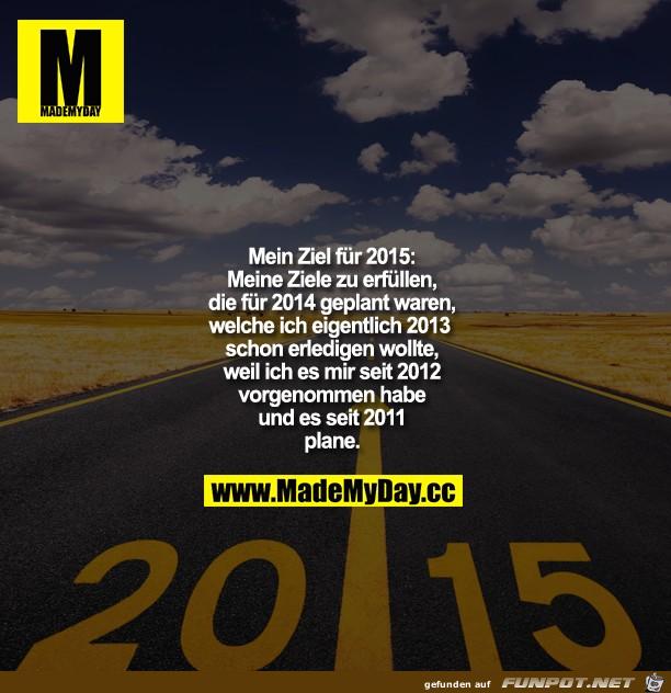 Mein Ziel fuer 2015