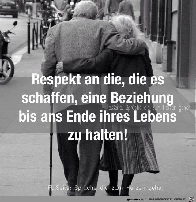 Respekt fuer eine Beziehung bis zum Lebensende