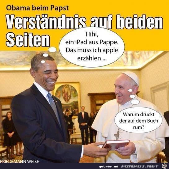 Obama beim Pabst