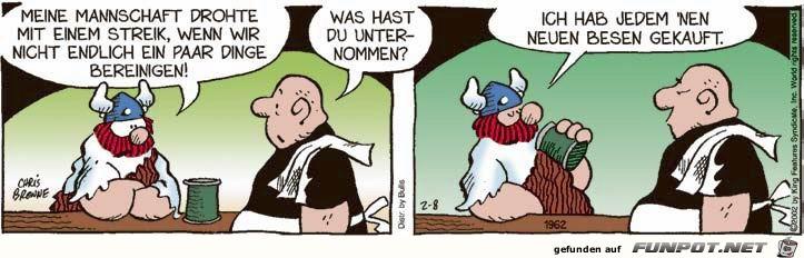 witzige Bilderserie Nr. 18 mit Hägar, dem Schrecklichen