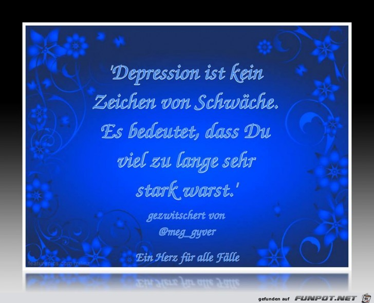 Depression ist kein