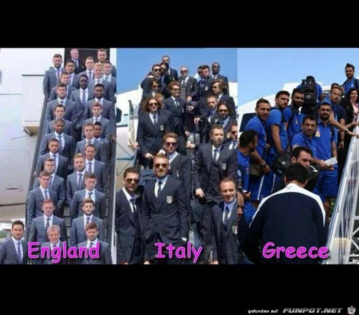 England - Italien - Griechenland