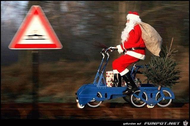Moderner Weihnachtsmann