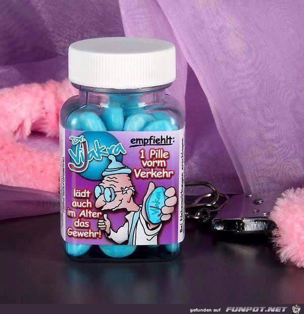 Blaue Pillen