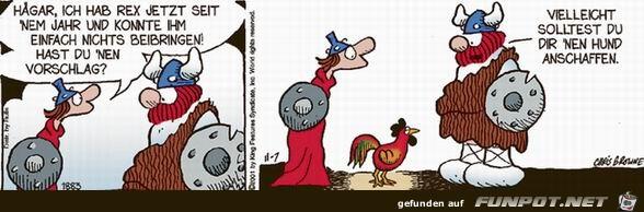 witzige Bilderserie Nr. 85 mit Hägar, dem Schrecklichen
