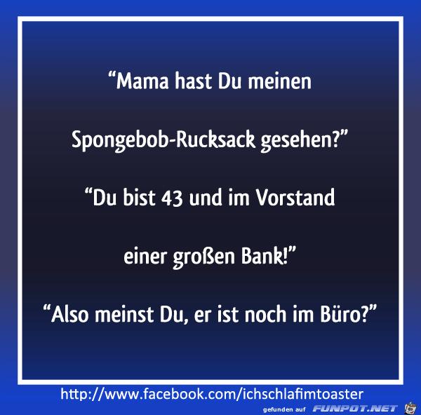 Spongebob-Rucksack