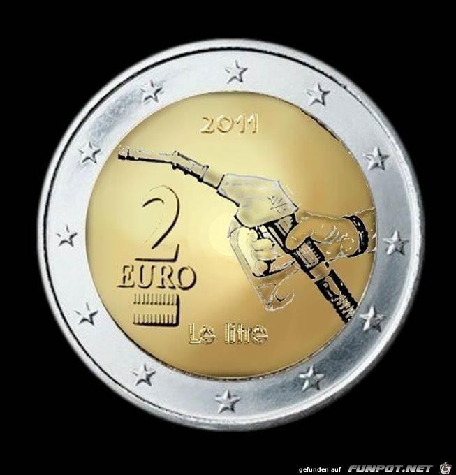 die 2-Euro-Tankmünze