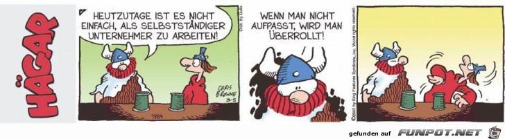 witzige Bilderserie Nr. 16 mit Hägar, dem...