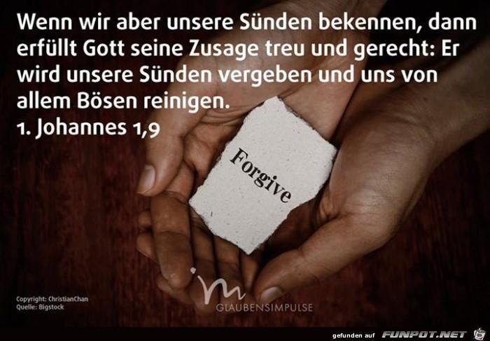 1 Johannes 1 9