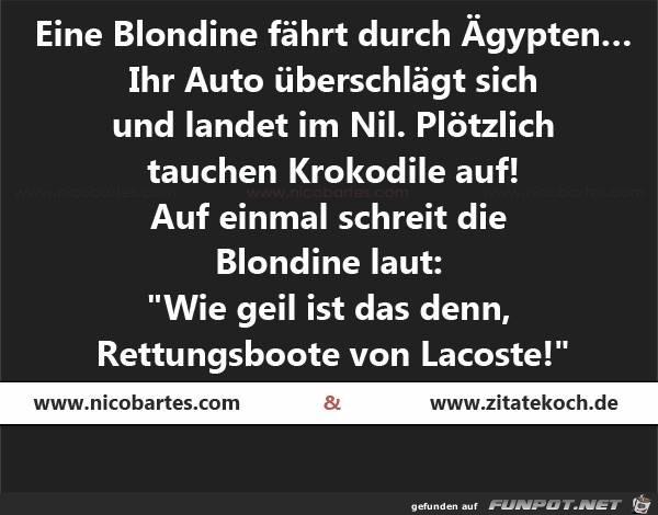Eine Blondine...