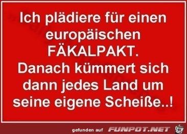 der europäische Fäkalpakt