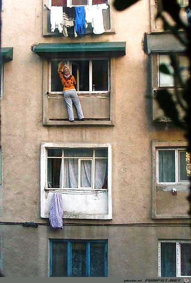 Fensterputzen fuer Selbstmoerder