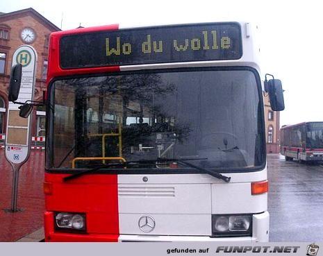Wohin mit dem Bus