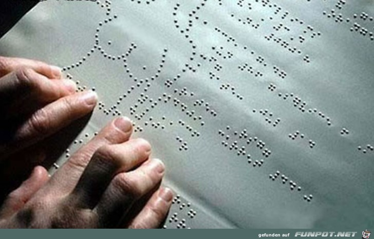 Blindenschrift