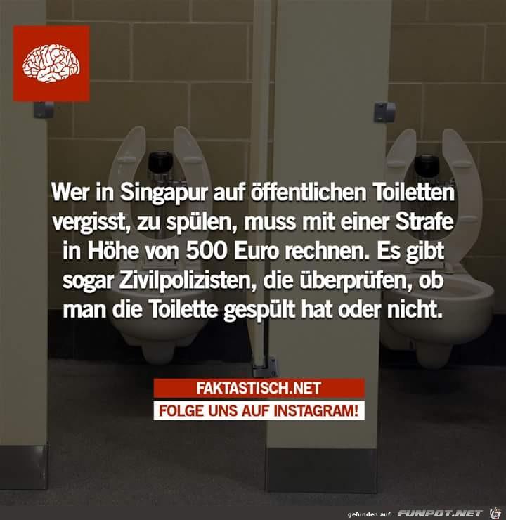 Singapur Toilette