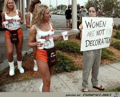 Frauen sind nicht zur Dekoration da