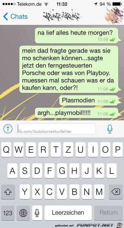 Autokorrektur Playmobil