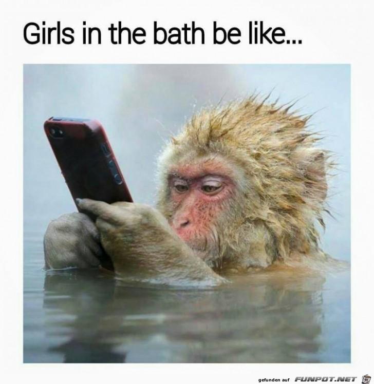 wie ein Maedel im Bad