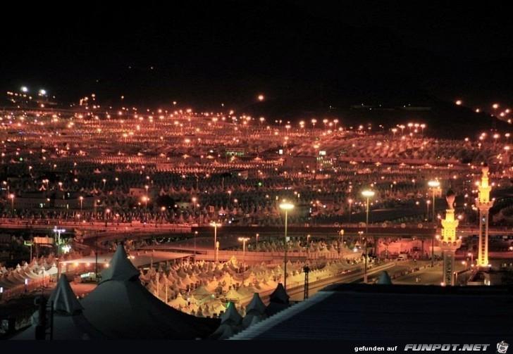Sehr interessante Bilder der Zeltstadt von Mina. Die...