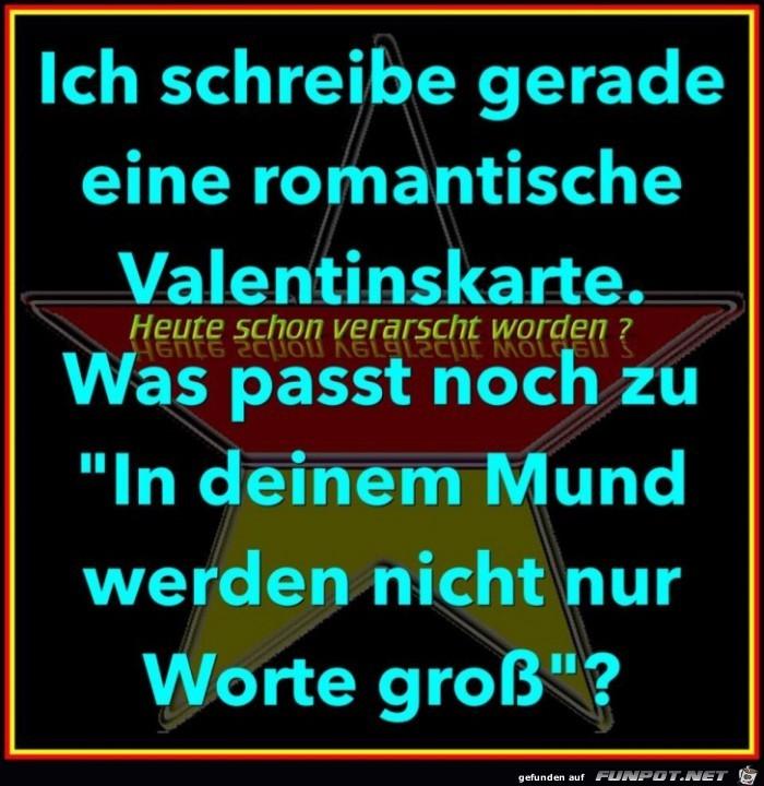 Romantische Valentinskarte