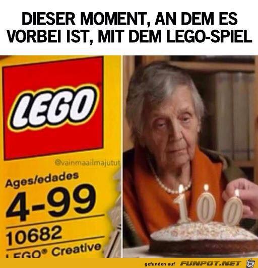 Du darfst nicht mehr mit Lego spielen
