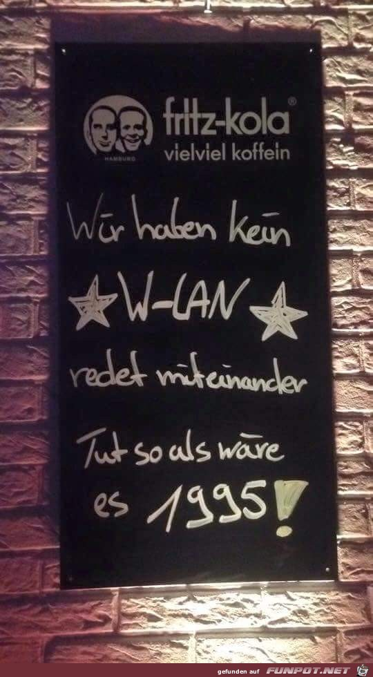 Kein W-Lan