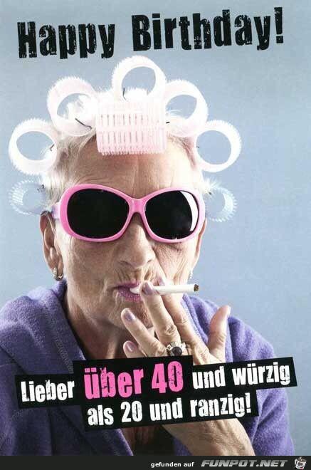 Happy birthday - über 40