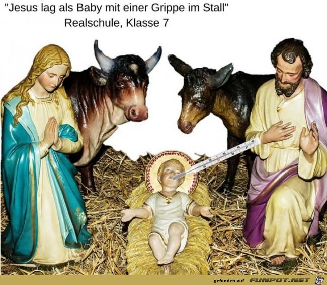 Jesus mit Grippe