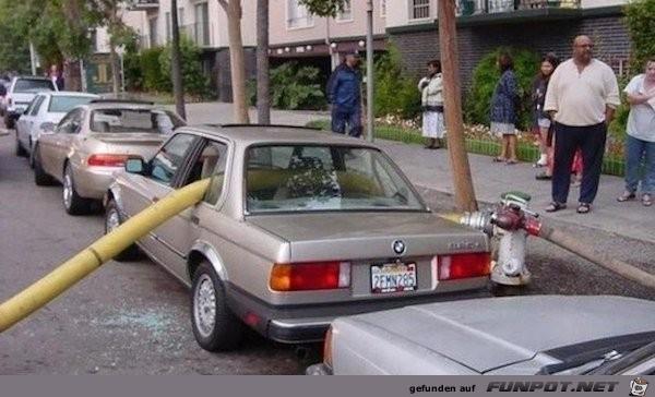 schlecht geparkt