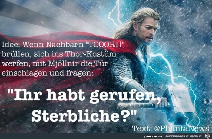 Thor gerufen