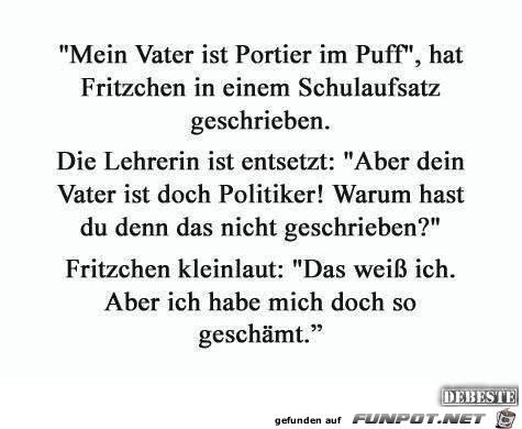 Fritzchen in der Schule.....