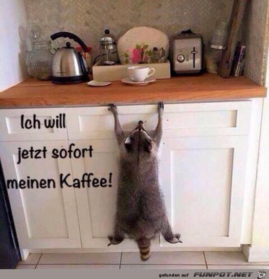 er will Kaffee