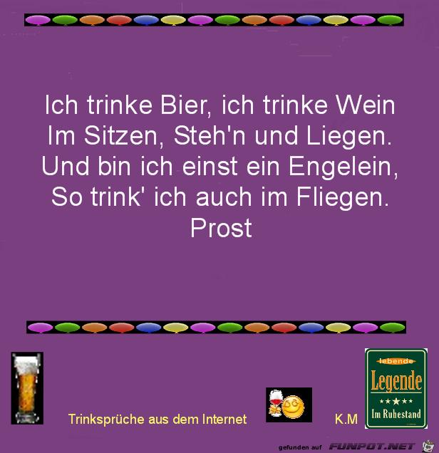 ich trinke Bier
