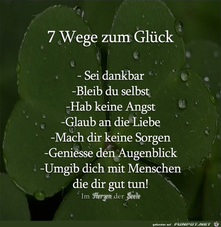 7 Wege zum Glueck
