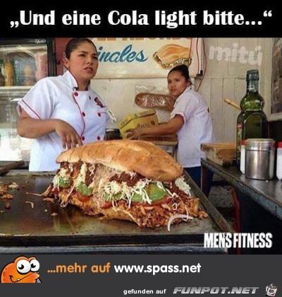und eine Cola-light...