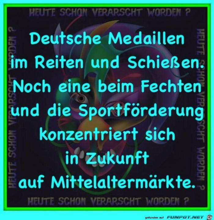 Deutsche Medaillen bei Olympia