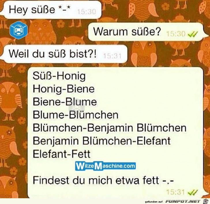 Hey Süße - SMS