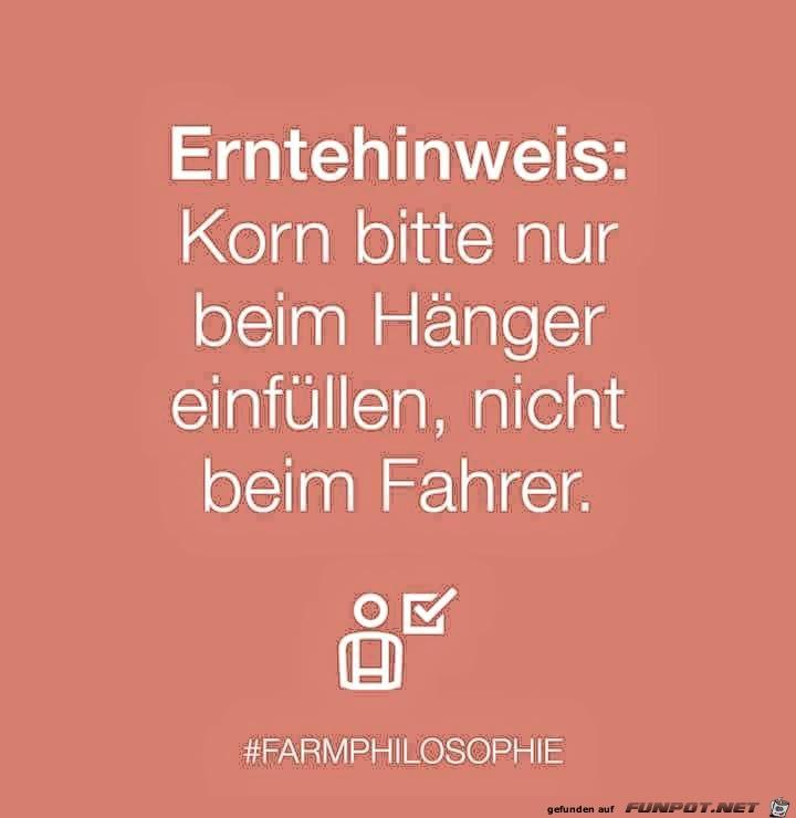 Erntehinweis...