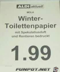 Winter-Klopapier