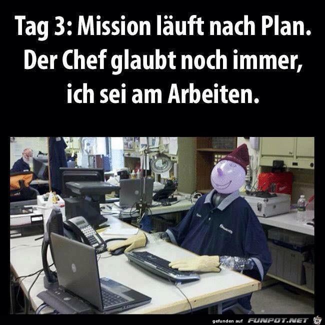 Mission laeuft nach Plan
