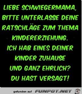 liebe Schwiegermama.....