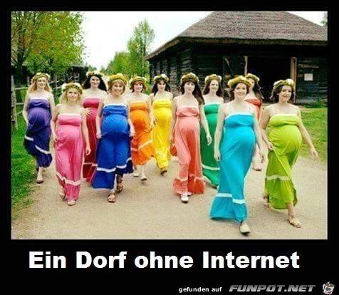 Ein Dorf ohne Internet...