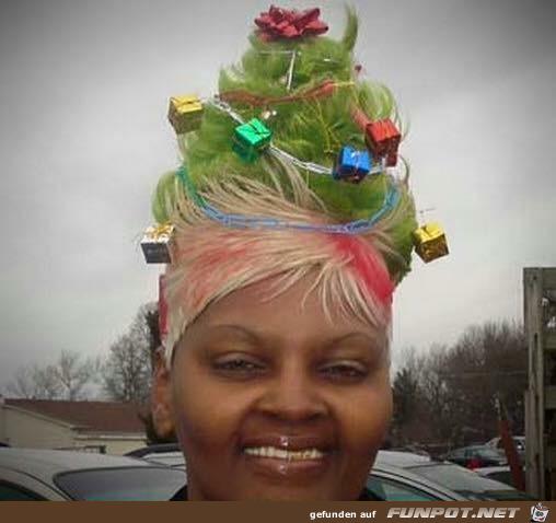Schicke Weihnachtsfrisur