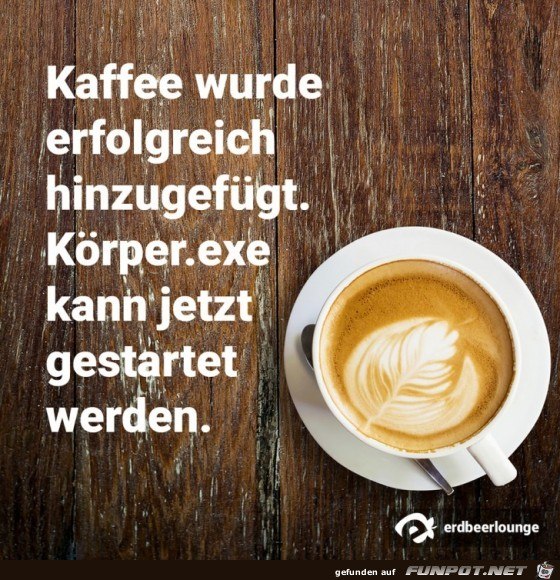 Kaffee wurde erfolgreich hinzugefügt......