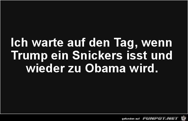 Ein Snickers für Trump