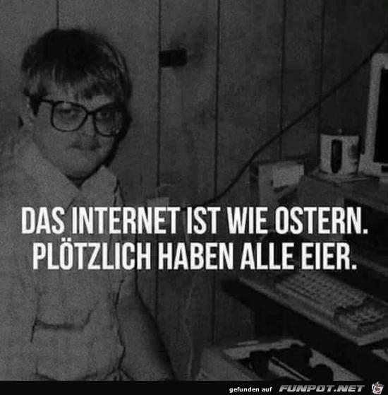 Internet ist wie Ostern