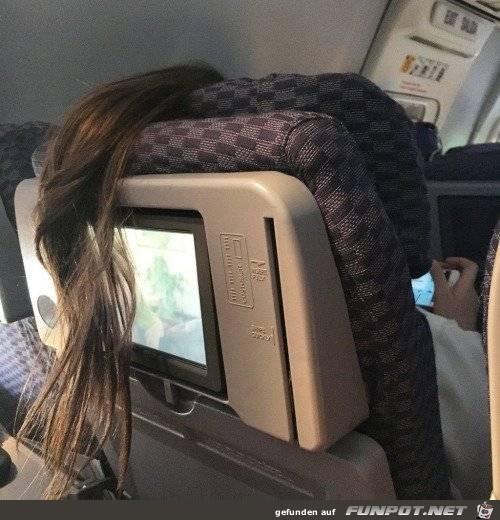 Haare-vor-Bildschirm