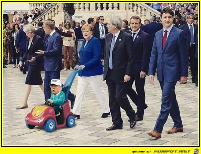 Wer passt auf den kleinen Donald auf
