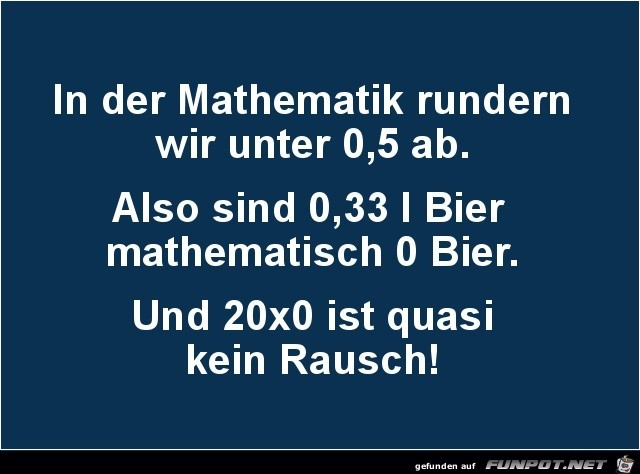 in der Mathematik......